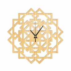Modern 3D wooden clock-zigzag 18 inches wooden 3D clock-zigzag clock-new...