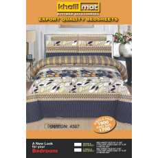 Printed Double Bed Sheet with 2 Pillow Covers Export Quality – 3 PCS - SRN...
