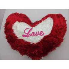 Heart Furr Love Cushion Cover With Filling