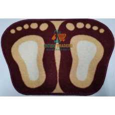Door Mat Double Foot Shape - Multi-color - Size 40 x 60 cm- SRN Traders