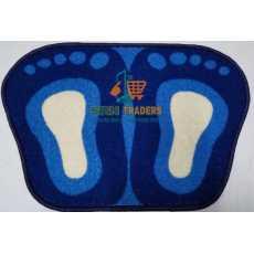 Door Mat Double Foot Shape - Pack of 2 - Multi-color - Size 40 x 60 cm- SRN...