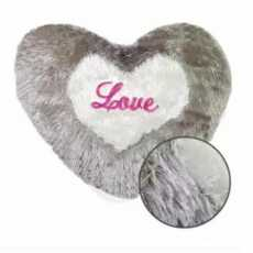 Heart Furr Cushion Cover Without Filling - SRN Traders