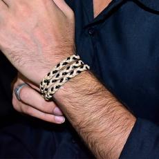 Fashion Multi Layered Wristband - Cream