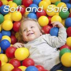 Stinnos Kids Soft Plastic Balls - 50 Pcs Pack - (Multicolor)