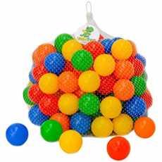 250 Soft Plastic Tent Balls Set For Kids - Multicolor