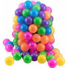 Soft Plastic Balls 60 Pcs Set - Multicolor