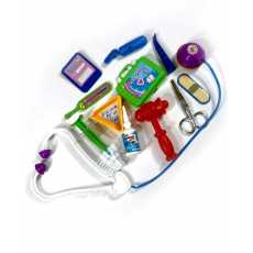 12 Pcs Kids Toy Doctor Set In Hand Bag For Boys and Girls