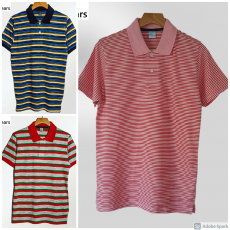 Pack of 3 Polo Shirts for men - Red, Maroon, Grey
