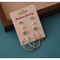 100 Degreez, Pack of 5, Stud and Hoop Earrings Pairs for Women.