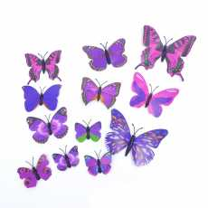 12 pcs 3D Butterfly Stickers for Home Decoration Removable 3D Vivid Man-made...