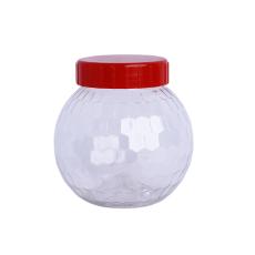 Diamond Design Plastic Transparent Jar 62mm