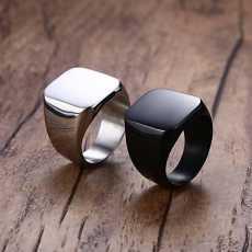 Black Titanium Punk Ring Antique Design For Men (A plus)