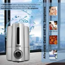 Geepas 32W Humidifier Double Nozzle, 16 Hours of Continuous Mist 4L Capacity...