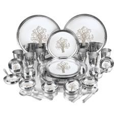 indian stainless steel apple design celebration 42 pcs dinner dinnerware...