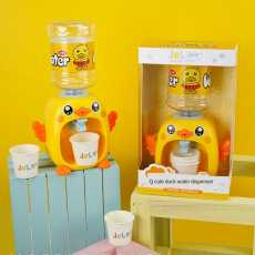mini duck shape water dispenser for kids with light and music. Mini water...