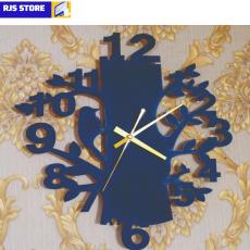 Bird and Tree Wooden Wall Clock, Wall Clock Tree Shaped with Bird Wooden Wall...