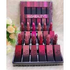 HudaBeality matte lipsticks pack. 12 lipsticks in a box.