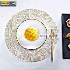 2Pcs / 4Pcs / 6 Pcs Golden / Silver Round Vinyl Placemats Non Slip Dining...