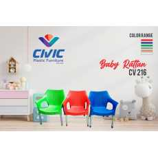 Baby Rattan Chair CV 216- 4 chair and 1 table