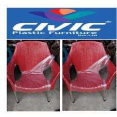 Plastic chair pair