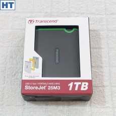 Transcend StoreJet (25M3) 1TB Portable Shockproof HDD - USB 3.1 interface -...