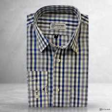 Formal Office wear Cotton Mix Cotton Full Sleeves Plain Check Stripes...