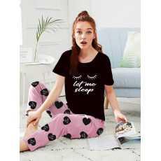 Comfortable Ladies Night Suit - Printed Trouser