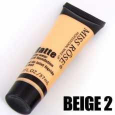 Miss Rose Professional Makeup Matte Liquid Foundation - Beige 2 Shade