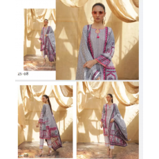 Summer collection 3 piece printed lawn  unstiched fabric s