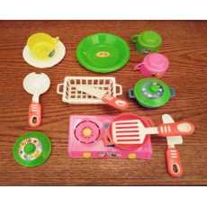 Kitchen Accessories 11 Pieces Toy Set for 3 Plus Years Girls Multicolor
