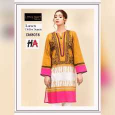New Summer Collection 2021 Lawn 3pc Embroidery Suit with Chiffon Dupatta...