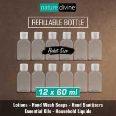 Pack of 12 Transparent Refillable Pocket Size Empty Plastic Liquid Dispenser...