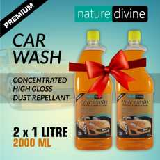 Pack of 2 Nature Divine Concentrated Premium Car Wash Shampoo 1 Litre (1000 ml)