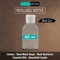 Transparent Refillable Pocket Size Empty Plastic Liquid Dispenser Bottle with...