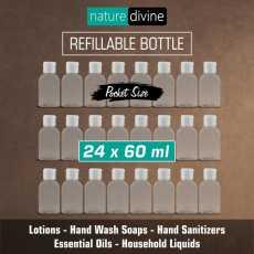 Pack of 24 Transparent Refillable Pocket Size Empty Plastic Liquid Dispenser...