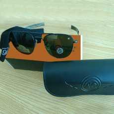 Matte Black Pilot Sunglass - Black Frame Green Lens - Lens Size 54mm x 20mm...