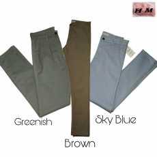 Pack of 3 Denim Chino – 01 Greenish/SkyBlue/Brown ( Weist 30 Size Standard)