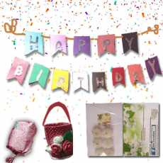Happy birthday  complete package with birthday banner  JASMINE  Floating...