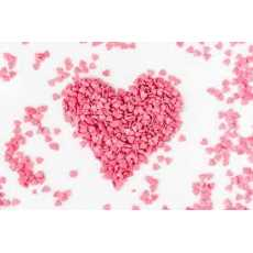 Baby Pink Heart sprinkles for cake decoration Available in   4 sizes sell online