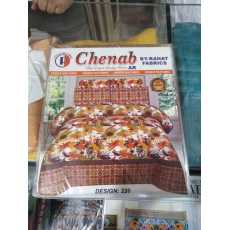 CHENAB Pure cotton Bedsheets With 2 Pillow Covers