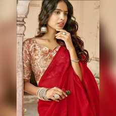 Indian Saree red