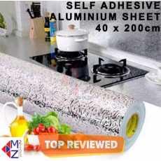 Aluminium Foil Self Adhesive Sticker Roll, Silver color Kitchen Backsplash...