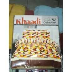 KHAADIi Pure cotton Bedsheets With 2 Pillow Covers