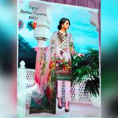 03 PIECE, SPECIAL EMBROIDERED LAWN SUIT, WITH BAMBER DUPATTA UNSTITCHED SUIT...
