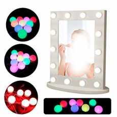 RGB - LED Bulb Mirror Lights Vanity Mirror Lamp Kit Lens Headlight Bulbs Kit...