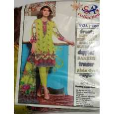 DIGITAL CHICKEN KARI LAWN, 100/100, WITH BAMBER DUPATTA. UNSTITCHED SUIT FOR...