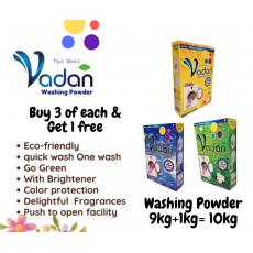Vadan Detergent Washing Powder  buy 9kg  = get 1kg free save 230 rupees