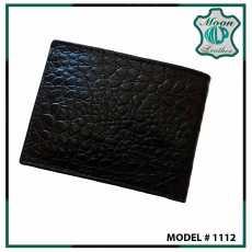 black platted Leather Wallet for Mens