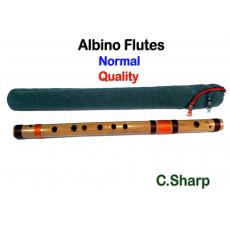 Albino C# Medium Scale Side Blown Bamboo Bansuri/ Flute