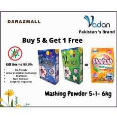 Vadan Washing Powder Buy 5kg & Get 1kg Shadab Washing Powder Free